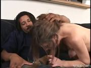 Practicing her BJ skills - Gentlemens Video