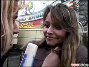 Cute German amateur recruited in public