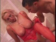 Old hottie devours young twink 3/5