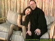 Latina Angel comforts a weary old man