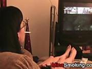 smoking and gaming girlfriend