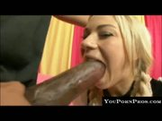 German Blonde gets her pussy split by black cock