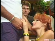 Three swinging dicks plus two hot twats equals a whole lotta cum