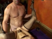 A pool table fuck using his stick pt 1/3