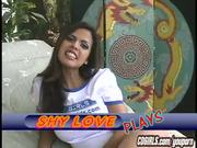 Shy Love and her powered vibrator masturbation