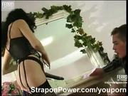 Strapon domination sex