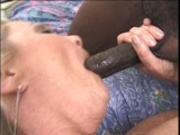 Combing her bush and getting it ready for sex