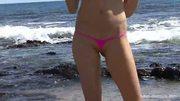 Sarah Strip at the beach