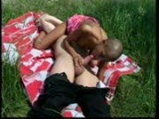 A picnic lunch of cum and pussy juice