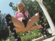 Blonde bombshell makes his big dick explode  pt 1/2