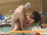 Squirting young MILF gets some in the HOT TUB