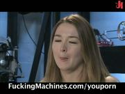 Sexy newcomer tries fucking machines!