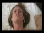 Amateur girl gets her first cream pie