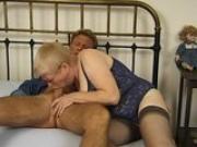 Grandma can sure suck some sausage - Telsev