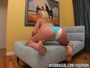Blonde Adrianna Nicole fucks Black Cock