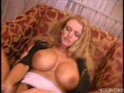 Busty Sucks Her Pink Dildo