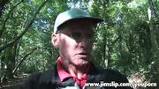 Lara lures old geezer from woods with money