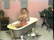 Big titted hottie takes a bath of food - Pt. 1/4