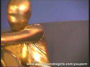 Golden spandex Arwen