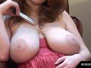 Terry Noba Busty Star Masturbates With Silver Vibrator