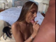 Brunette takes test for oral sex (CLIP)
