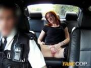 Fake Cop Redhead hooker earns herself an unlawful bonus