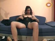 Amateur blonde fucks wihle black girl watches them