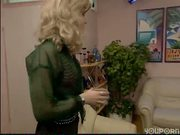 Blonde pleasures her coworkers - DBM Video