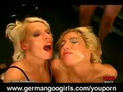 Blonde Chicks Drinking Jizz Non-stop!