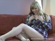 Satine Spark fucks her pale blonde bush