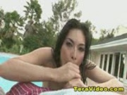 Tera Patrick Blowjob at the Pool!