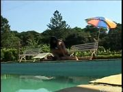 Dude With Nice Tits Gets Served Poolside Pt.3