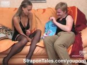 Strapon sex with a gorgeous girl