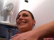 Pretty girl fucks a guy with big cock - Venality Productions