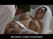 NERVOUS BIG TIT BRUNETTE WIFE FUCKS BIG DICK BEFOR