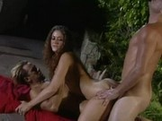 Poppy Morgan and Danny Mountain poolside fuck 