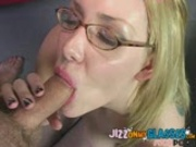 Indie Punk Girl Gets Cum on Her Glasses facial 