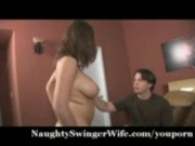 Wife&#39;s Big Tits Meet Stranger&#39;s Cock