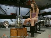 Amazing amateur girl tries fucking machines