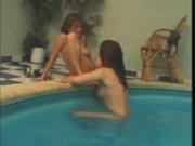 Poolside threesome 2/4