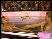 Foot fuck in the bathtub