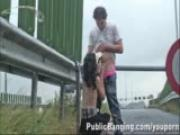 YOUNG couple on a FREEWAY in the rain PART 1