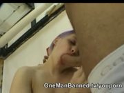 Purple haired punk chick gets fucked