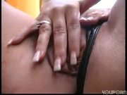 Hot blonde plays with her own pussy and tits
