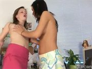 Hot lesbian action with Tarra White and Laura