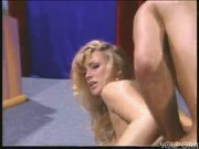 Sexy blonde loves both cocks in her (CLIP)