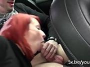 Cute redhead Emilie deepthroated