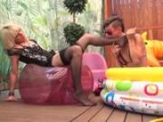 LECHE 69 Spanish Lesbians in a small pool