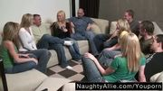 PARTY GAME LEADS TO A HUGE ORGY â?? SWINGER WIVES