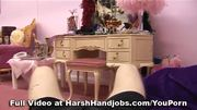 Laura Hernandez gives a harsh handjob